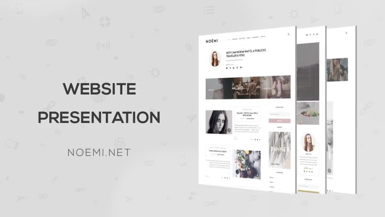 Website Minimal Promo: After Effects Templates