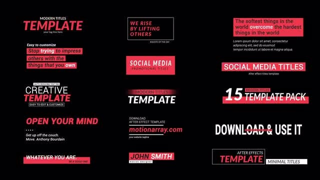 Social Media Titles 2.0: After Effects Templates