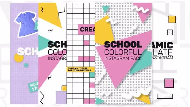 Instagram School Stories: After Effects Templates