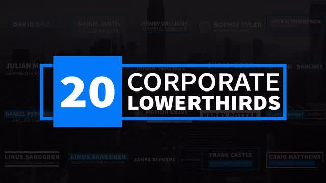 20 Corporate Lower thirds: After Effects Templates