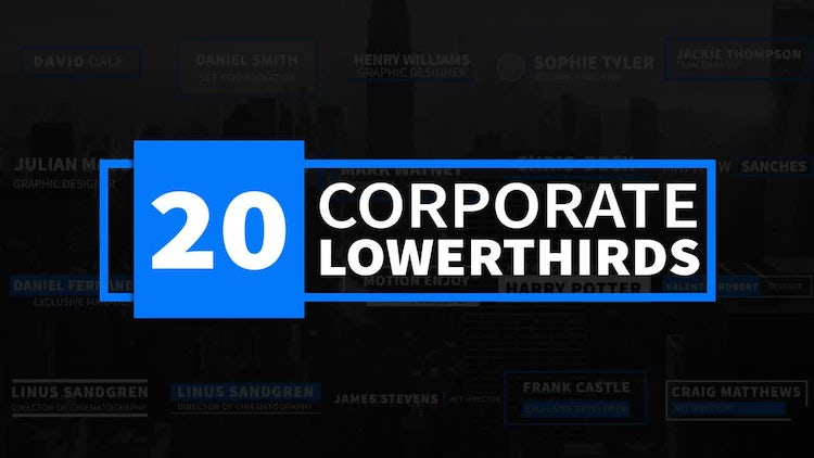 20 Corporate Lower thirds - After Effects Templates   Motion Array