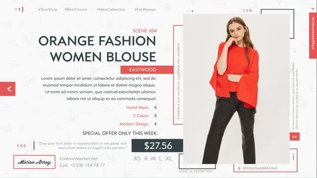 Fashion Market: After Effects Templates