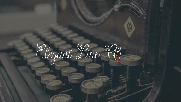 Elegant Line Alphabet: After Effects Templates