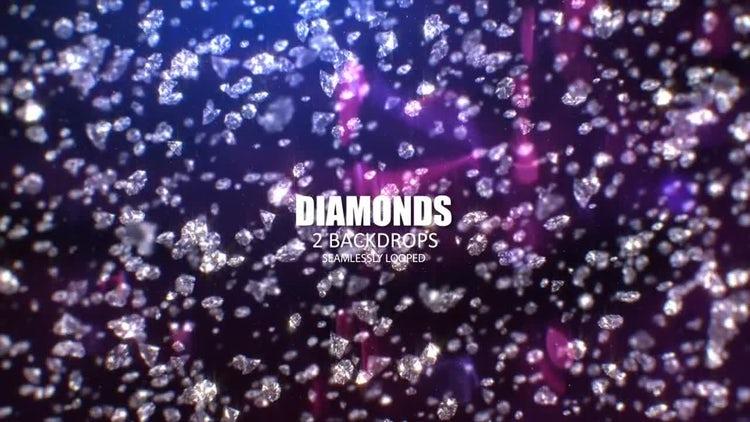 Raining Diamonds: Stock Motion Graphics