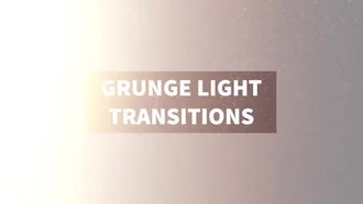 Grunge Light Transitions: Stock Motion Graphics