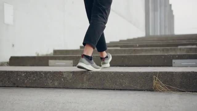 Walking Up Stairs: Stock Video