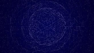 Plexus Sphere Background: Motion Graphics