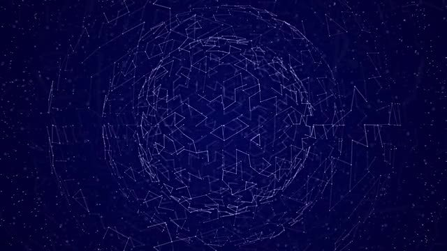 Plexus Sphere Background: Stock Motion Graphics