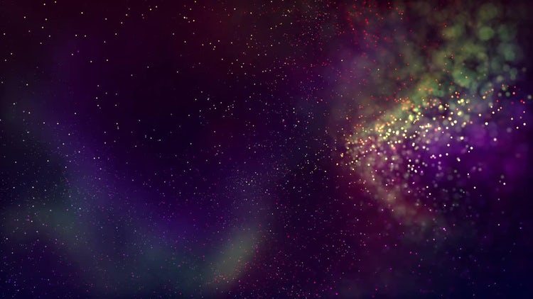 Colorful Particles: Motion Graphics