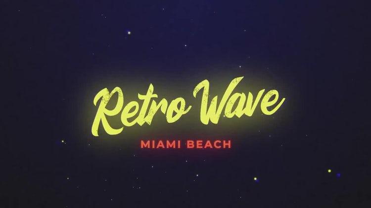Retro Wave Intro 8: Motion Graphics Templates