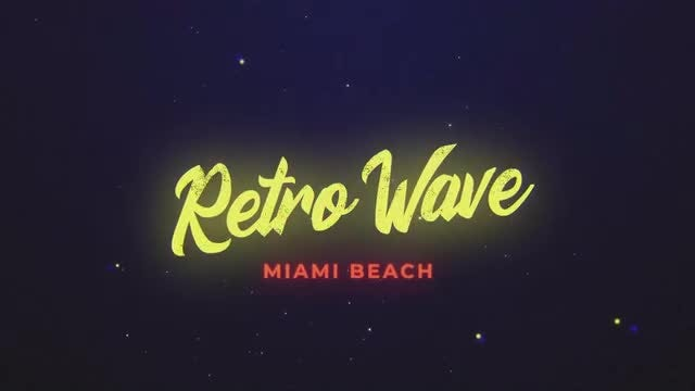 Retro Wave Intro 8: Motion Graphics Templates