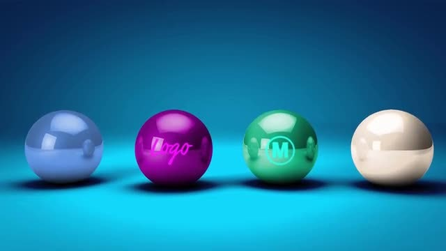 Bouncing Balls Logo Reveal: After Effects Templates