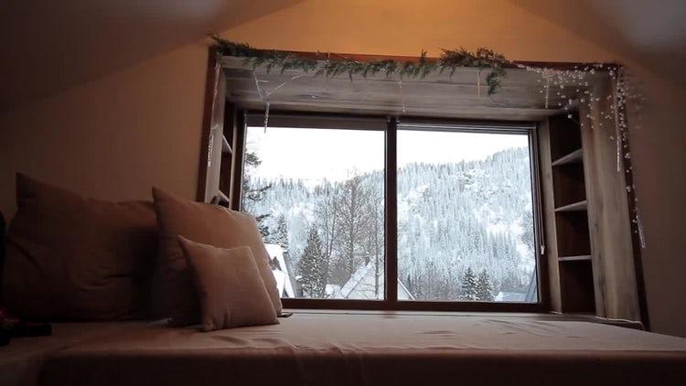 Winter Window: Stock Video