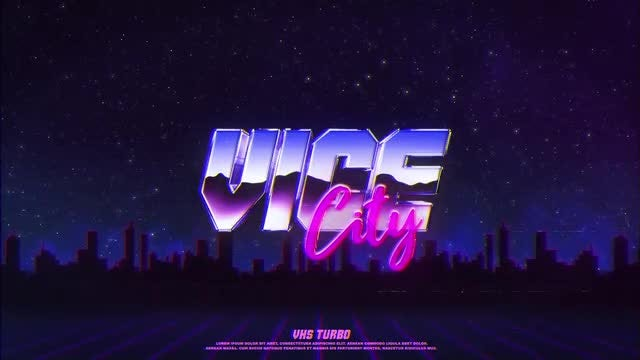Retro Wave Logo: After Effects Templates