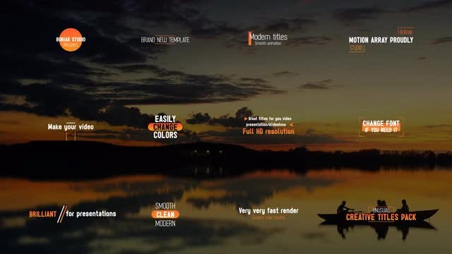 Unusual Creative Titles 4k: After Effects Templates