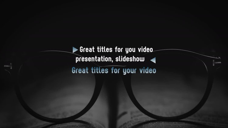 Unusual Creative Titles 4k: Motion Graphics Templates