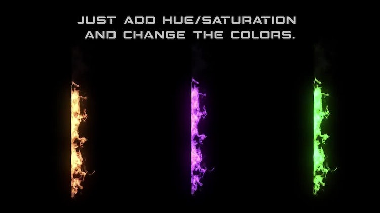 Vertical Flames: Stock Motion Graphics