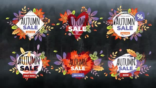 Elegant Autumn Sale Titles: After Effects Templates