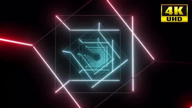 Square Tunnel Loop: Stock Motion Graphics