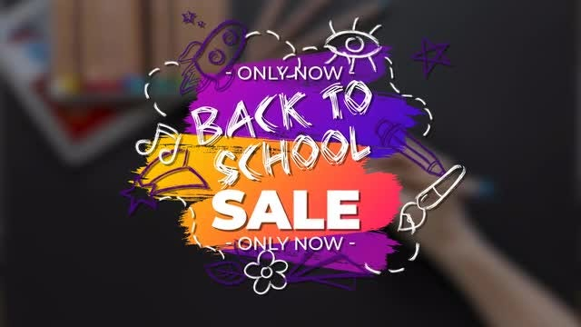 Funny Back To School Sale Titles: Motion Graphics Templates