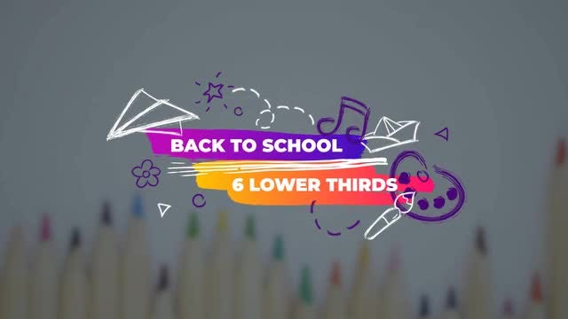 Funny Back To School Lower Thirds: Motion Graphics Templates