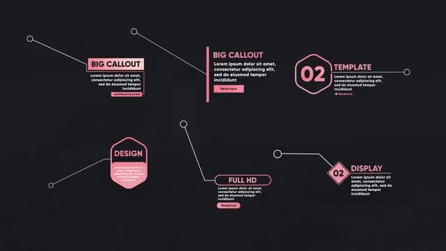 Big Callout Titles V2: Motion Graphics Templates
