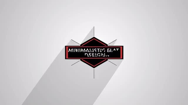 Minimalistic Flat Logo Reveal Long Shadow: After Effects Templates