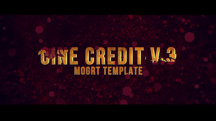 Cine Credit V3: Motion Graphics Templates