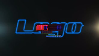 Techno Glitch Logo: After Effects Templates