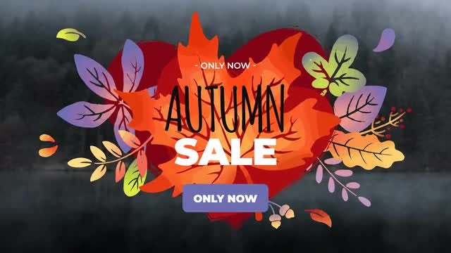 6 Colorful Autumn Titles: Motion Graphics Templates