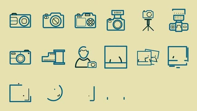 467 Line Icons (Part 2): After Effects Templates
