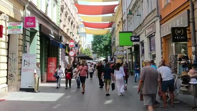 Sarajevo City Streets: Stock Video