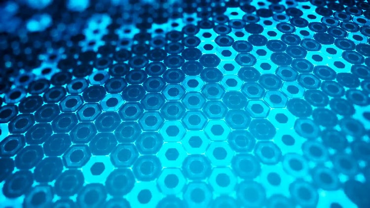 Abstract Hexagonal Structure: Stock Motion Graphics