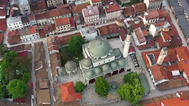 Aerial View Of Mosque: Stock Video