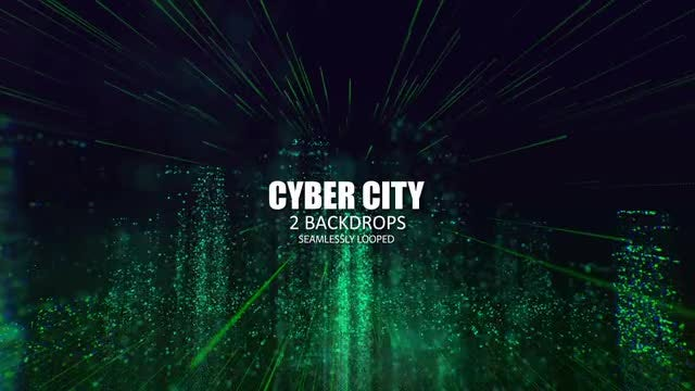 Cyber City Loop: Stock Motion Graphics
