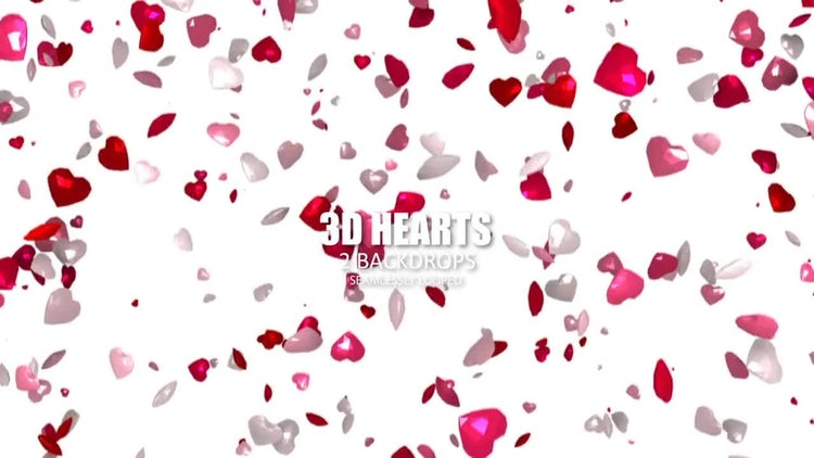 3D Hearts: Stock Motion Graphics