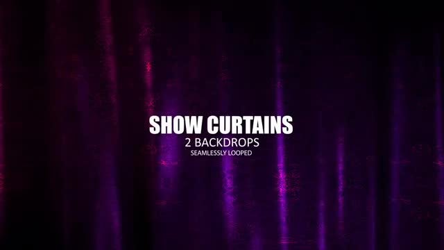 Show Curtains: Stock Motion Graphics
