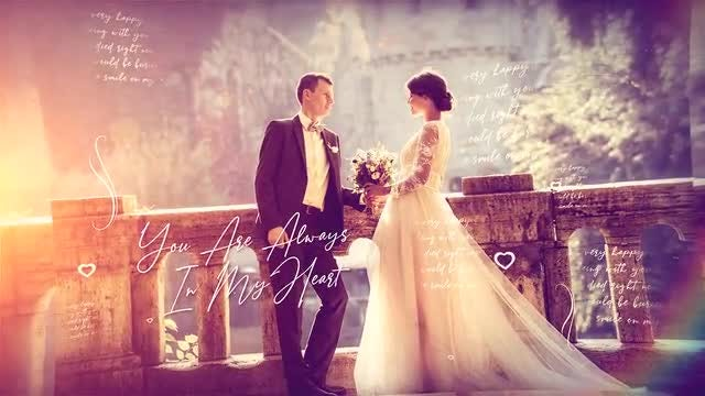 Brush Particle Wedding Slideshow: After Effects Templates
