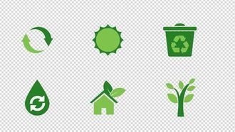 Eco Animated Icons: Motion Graphics