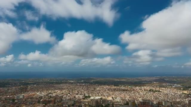 City Coast With Clouds : Stock Video