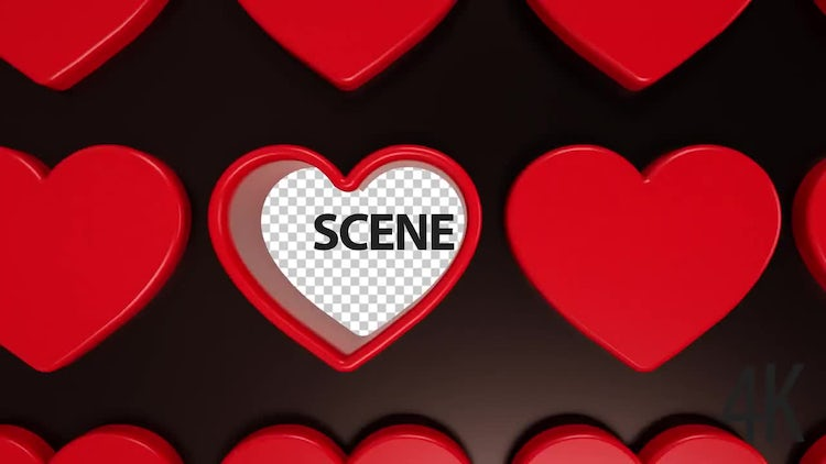 3D Hearts Animation: Stock Motion Graphics