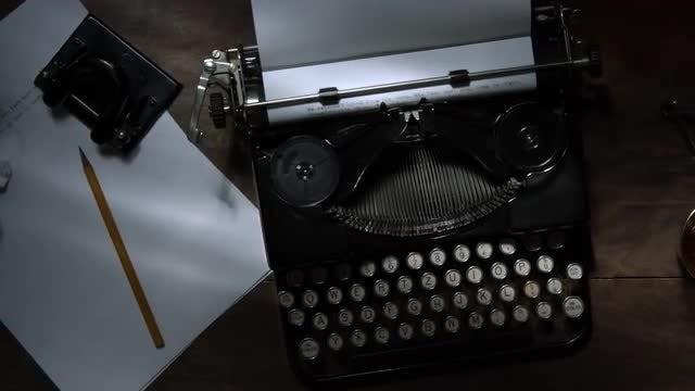Writer's Work Desk: Stock Video