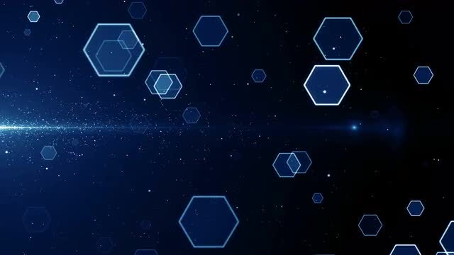 Hexagons Loop: Stock Motion Graphics