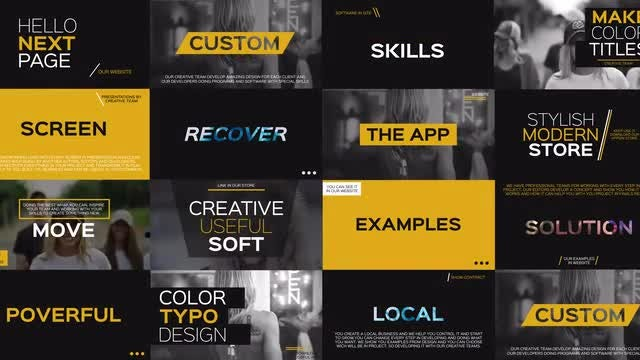 4k Creative Typography: After Effects Templates