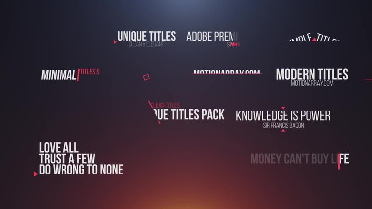 14 simple titles premiere pro templates motion array for Title templates premiere pro