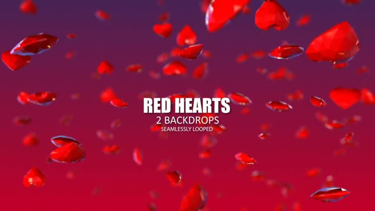Red Hearts: Stock Motion Graphics