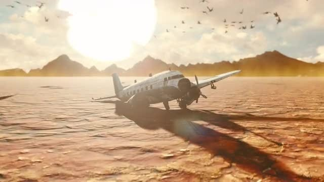 Crashed Plane: Stock Motion Graphics