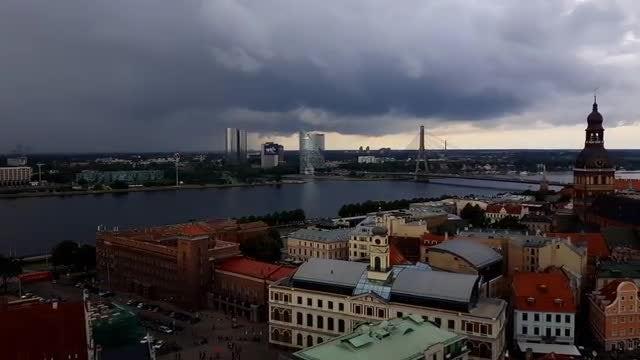 Cityscape Of Riga: Stock Video