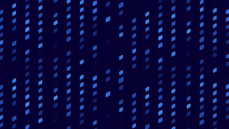 Digital Blue Shapes: Stock Motion Graphics