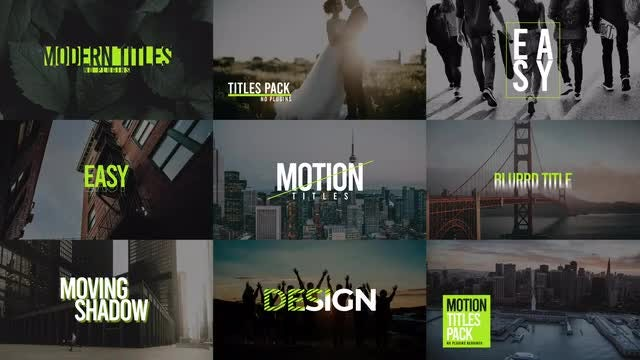 Modern Titles Pack VIII: After Effects Templates